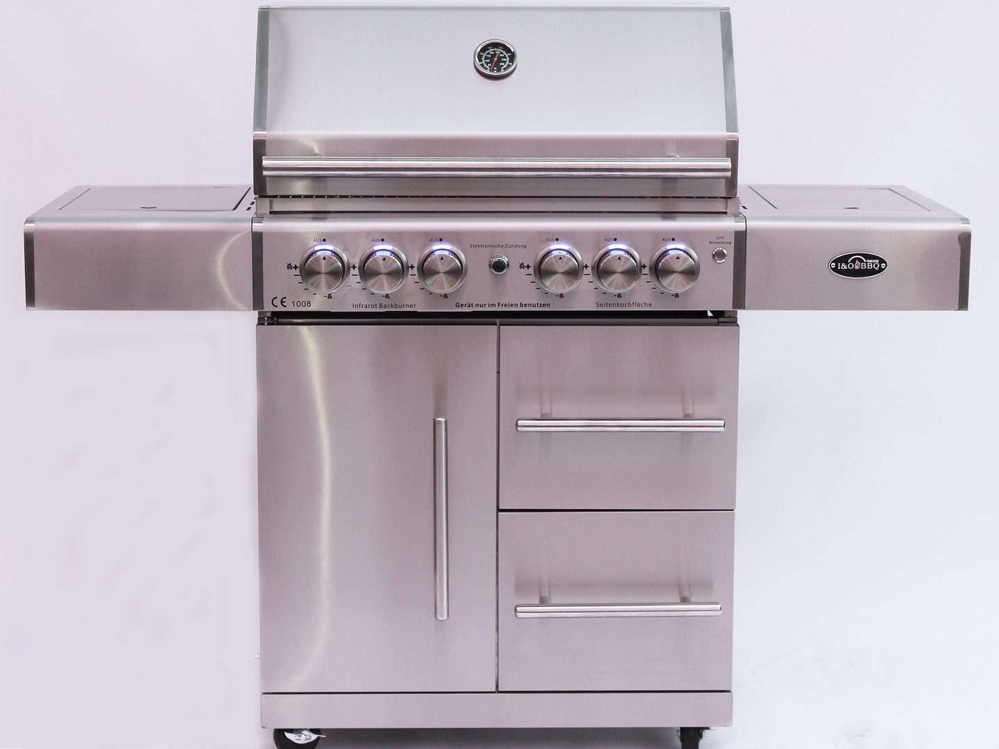 "i&o bbq® i&o4s edelstahl gasgrill ""next generation"" (vorbesteller aktion  april 2019)"