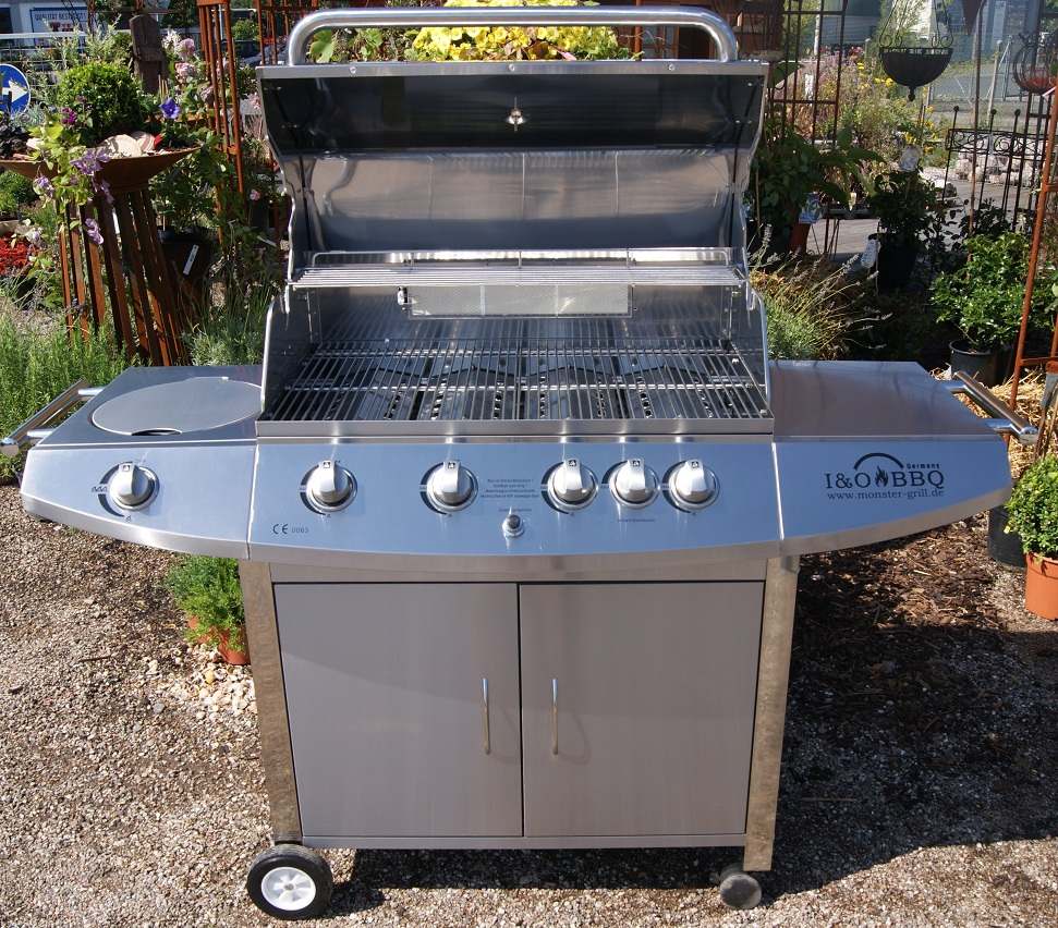 i&o bbq® i&o4s 4 brenner edelstahl us style gasgrill - monster-grill